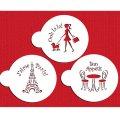 Mサイズ/ステンシルセット I Love Paris 3種類