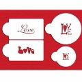 Mサイズ/ステンシルセット LOVE文字(長方形&丸) 4種類