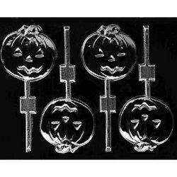 画像1: ロリポップチョコレート型 かぼちゃのお化け ミディアム