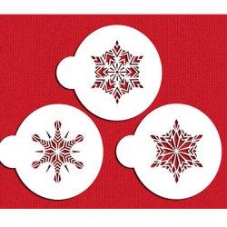 画像1: Mサイズ/ステンシルセット 雪の結晶 3種類