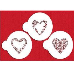 画像1: Mサイズ/ステンシルセット バレンタインハート 3種類