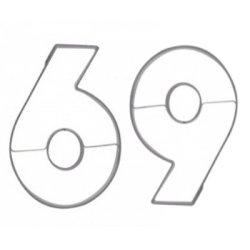 画像1: セール品/ドイツ/Stadter(ステンレス) クッキー型 数字 「6」 「9」