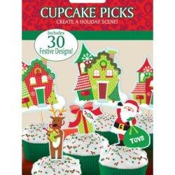 画像1: アメリカ/Amscan ケーキピック/パーティピック クリスマス 30本入