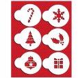 画像1: Sサイズ/ステンシルセット ホリデー/クリスマス 6種類 (1)
