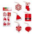 クリスマスセール品/アメリカ/Amscan クリスマスギフトタグセット/ホリデーファン 6種類