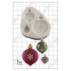 画像1: イギリス製/シュガークラフトシリコン抜き型/クリスマスオーナメント/Baubles 3種類