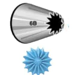 画像1: Wilton 特大 口金(No.6B) 星 15切 口径12mm