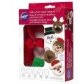 クリスマスセール品/Wilton クッキー型&スタンプセット メイクフェース
