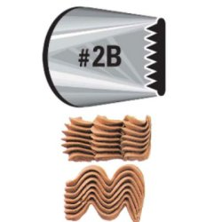 画像1: Wilton 大きめ口金(No.2B) バスケットウェーブ 口径15mm