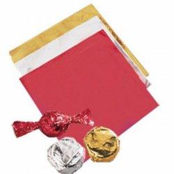 画像1: Wilton チョコレートホイル メタリックゴールド 50枚入 10cm