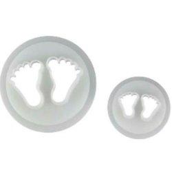 画像1: シュガークラフト抜き型セット/ 赤ちゃんの足形 2種類