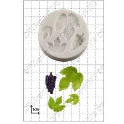 画像1: イギリス製/シュガークラフトシリコン抜き型/ ぶどう&ぶどうの葉