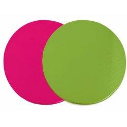 画像1: フランス製 ケーキサークル24cm ピンク&グリーン 6枚入