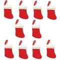 アメリカ/Amscan クリスマスソックス/ストッキング(布) ミニサイズ 10個入