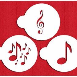 画像1: Mサイズ/ステンシルセット 音符 3種類