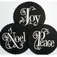 画像1: Mサイズ/ステンシルセット Noel/Joy/Peace 3種類 (1)