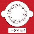 画像1: Lサイズ/ステンシルケーキトッププレート  リーフサークル 2種類  (1)