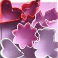 カラーミニクッキー型セット ハート&花&テディベアー 6種類