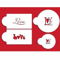 画像1: Mサイズ/ステンシルセット LOVE文字(長方形&丸) 4種類