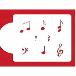 画像1: Lサイズ/ステンシルプレート  音符 8種類