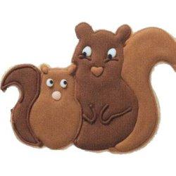 画像2: ドイツ/BIRKMANN クッキー型(ステンレス) リスの親子 13cm