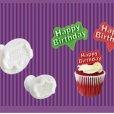 画像1: プランジャー付き抜き型セット Happy Birthday 2種類 (1)