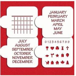 画像2: Mサイズ/ステンシルセット カレンダー
