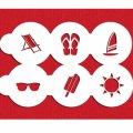 Sサイズ/ステンシルセット サマーシーズン 6種類