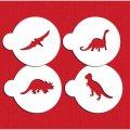 Mサイズ/ステンシルセット 恐竜 4種類