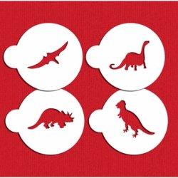 画像1: Mサイズ/ステンシルセット 恐竜 4種類