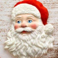 画像1: イギリス製/シュガークラフトシリコン抜き型 サンタの顔