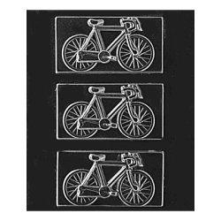 画像1: チョコレート型 板チョコタイプ/ 自転車