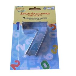 画像2: セール品/ドイツ/Stadter(ステンレス) クッキー型 数字 「7」