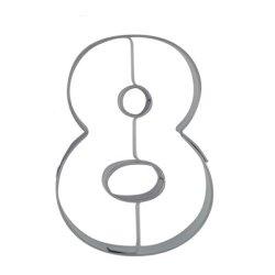 画像1: ドイツ/Stadter(ステンレス) クッキー型 数字 「8」