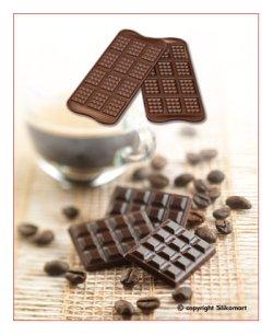 画像2: イタリア製 シリコンモールド 板チョコ